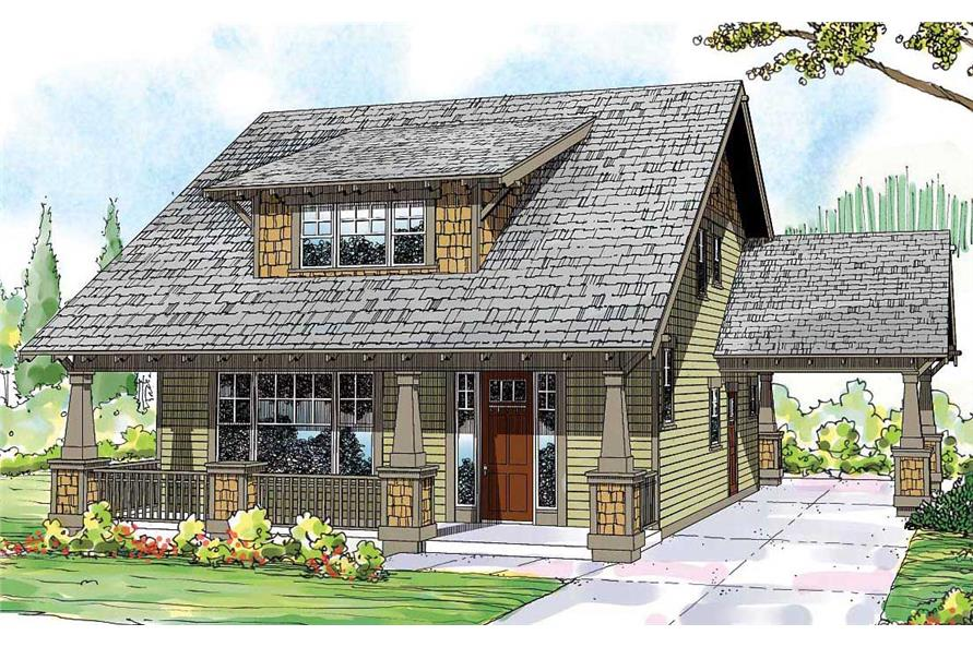 Craftsman   Bungalow Home with 3 Bedrms  2026 Sq Ft   Plan  108 1530  108 1530      3 Bedroom  2026 Sq Ft Craftsman House Plan   108 1530   Front