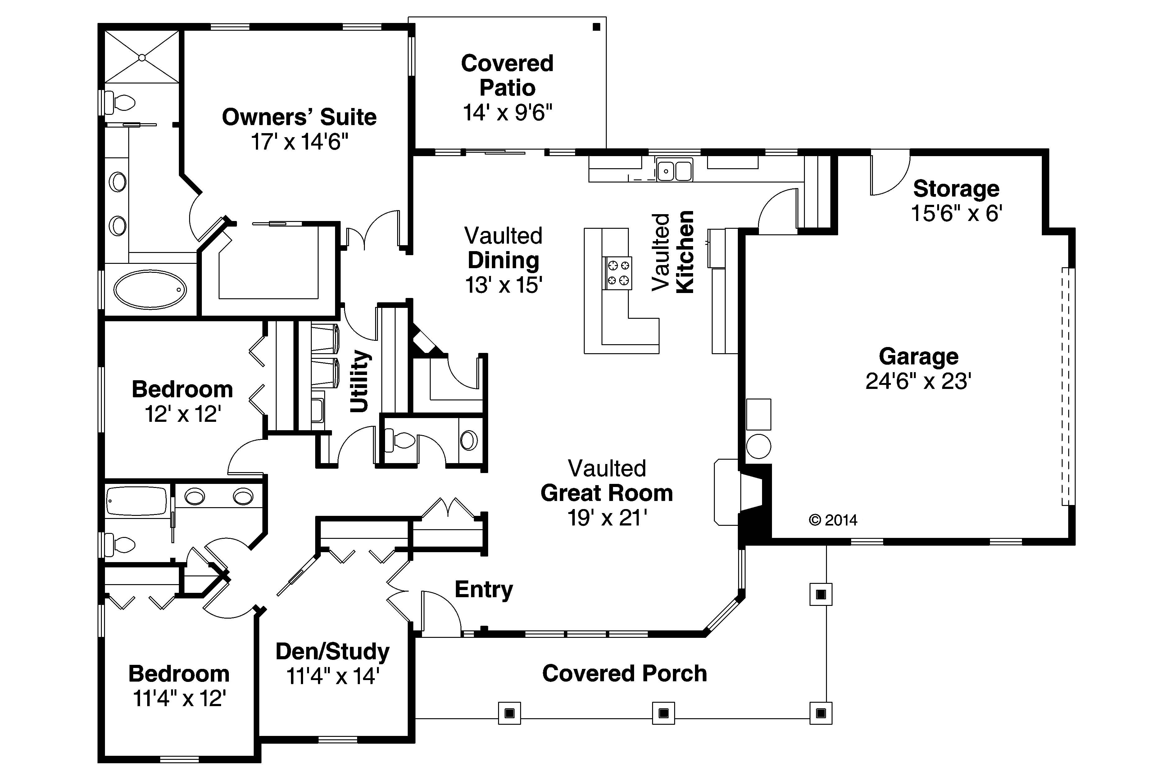 Ranch Home Plan