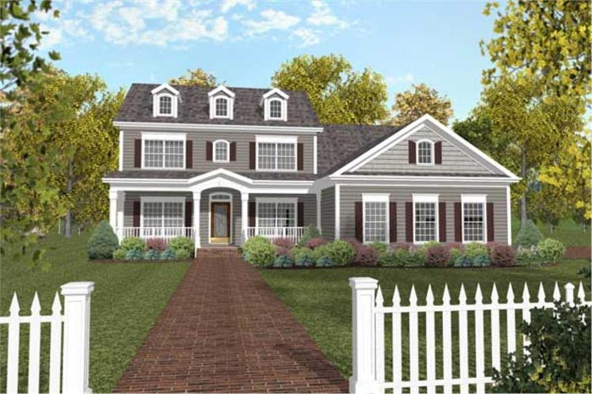 Traditional   Colonial Home with 4 Bedrms  2234 Sq Ft   Plan  109 1050  109 1050      4 Bedroom  2234 Sq Ft Traditional Home Plan   109 1050   Main