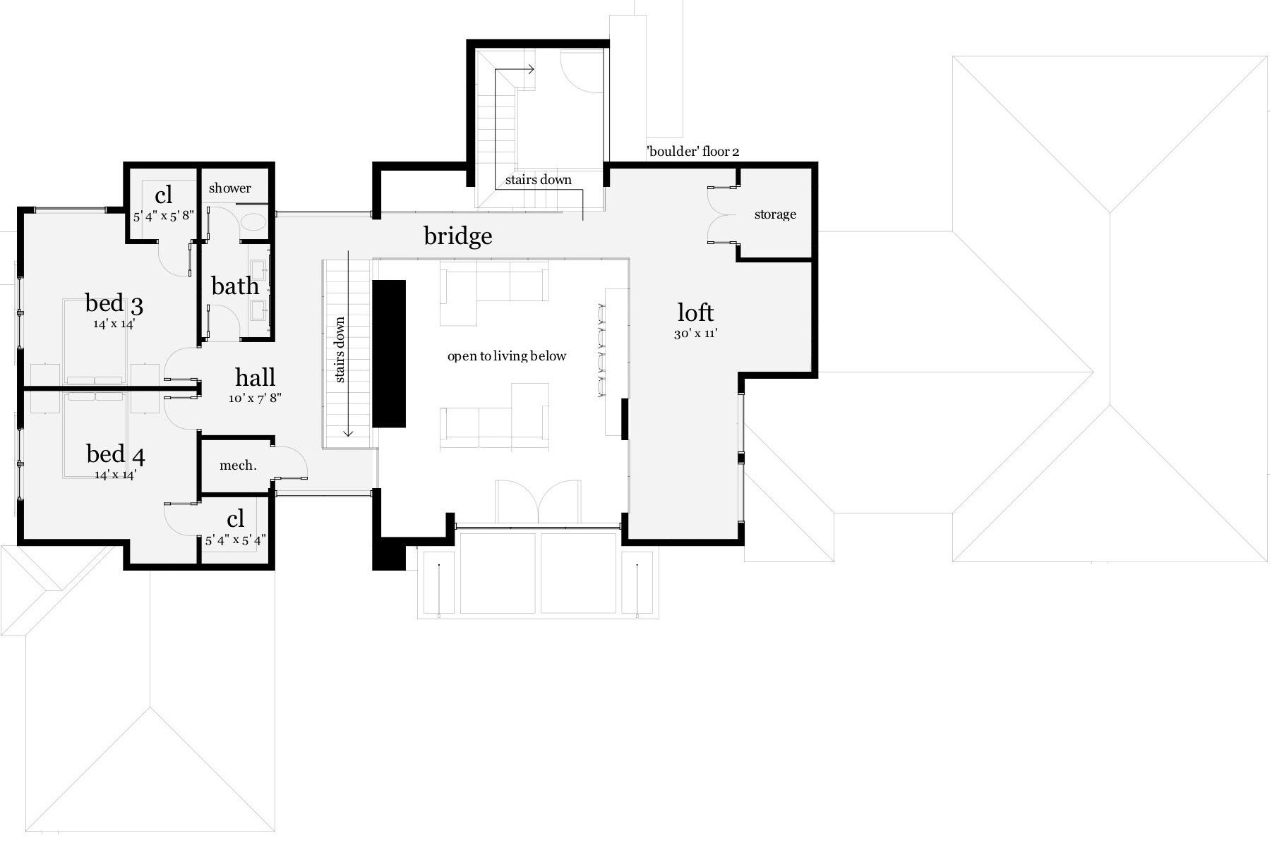 4 Bedrm Sq Ft Modern House Plan 116