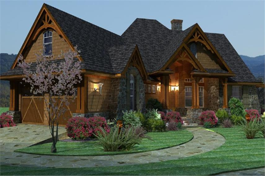 3 Bedrm  2091 Sq Ft Ranch House Plan  117 1092  117 1092      Home Plan Left Elevation of this 3 Bedroom 2091 Sq Ft Plan  117