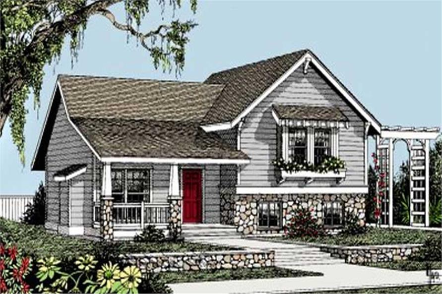 Small Traditional House Plans Home Design DDI101 301 1967