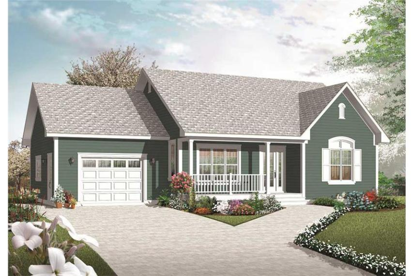 Small Country House Plans   Home Design 3269  126 1070      2 Bedroom  1113 Sq Ft Country Home Plan   126 1070   Main