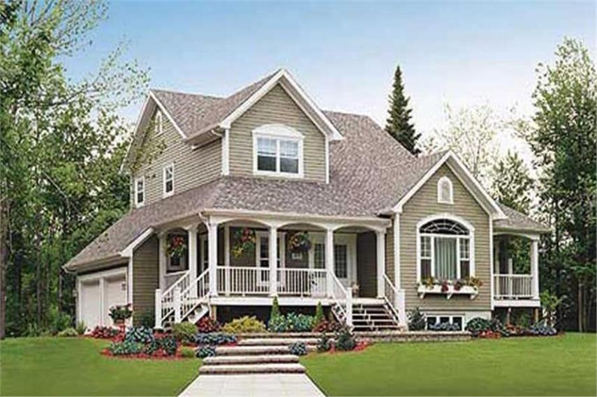 Country House Plans   Home Design   3540  126 1297      3 Bedroom  2257 Sq Ft Country House Plan   126 1297   Front