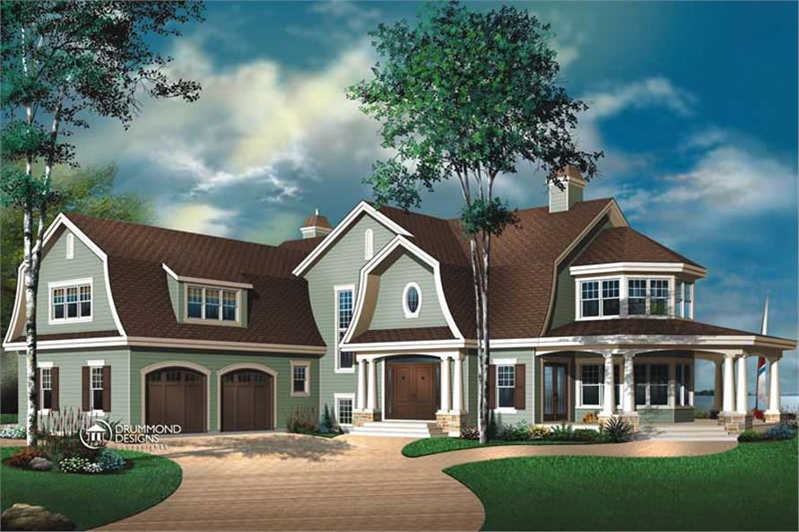 Luxury Contemporary Country Farmhouse House Plans Home Design DD 3844 8195