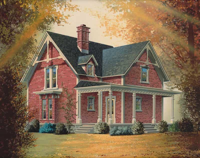 Country Victorian Farmhouse House Plans Home Design Dd