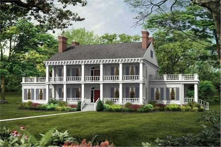 Colonial Plantation Style House Plan 137 1375