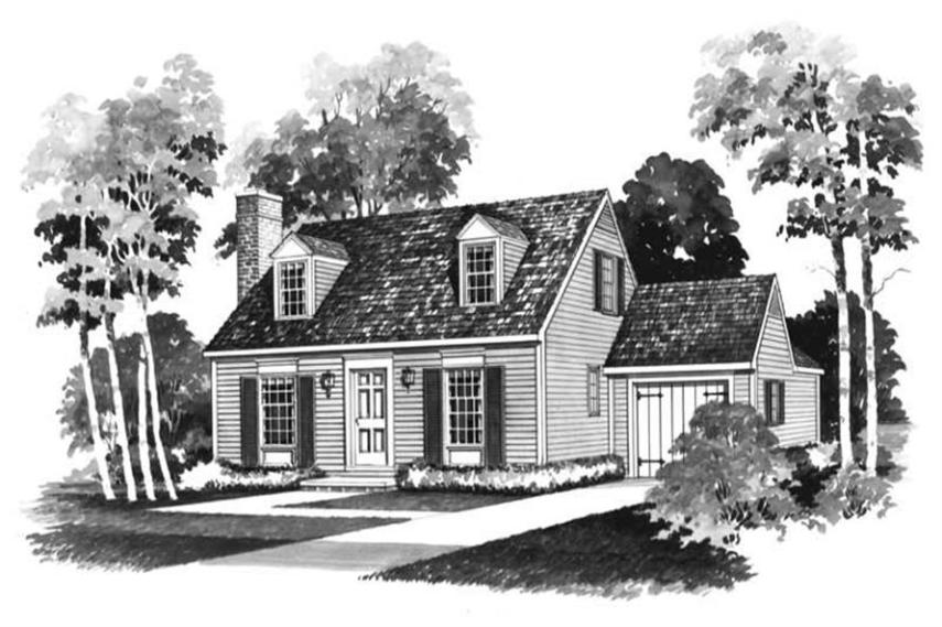 Small  Colonial  Cape Cod House Plans   Home Design HW 2162   17400  137 1758      3 Bedroom  1245 Sq Ft Cape Cod Home Plan   137 1758