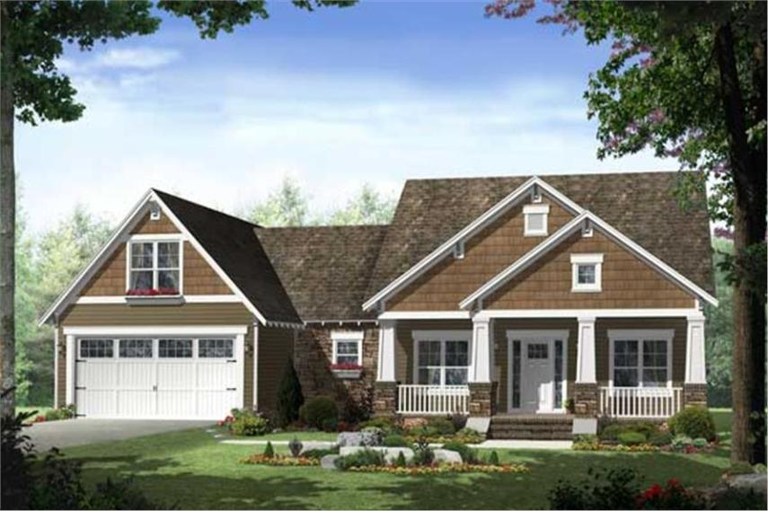 Craftsman House Plan   3 Bedrms  2 Baths   1619 Sq Ft    141 1096  141 1096      3 Bedroom  1619 Sq Ft Craftsman Home Plan   141 1096   Main