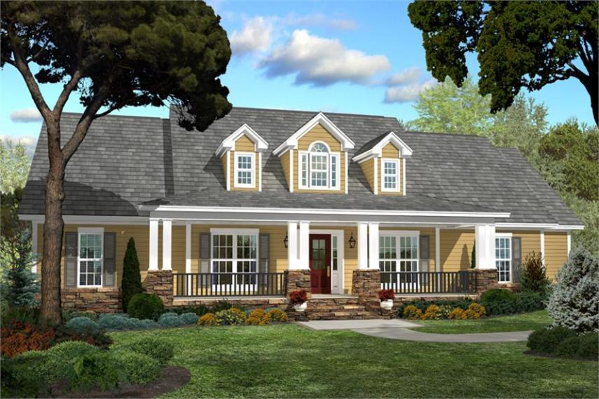 Country Craftsman Small 4 bedroom House Plan   Home Plan 142 1040  142 1040      4 Bedroom  2250 Sq Ft Country Home Plan   142 1040   Main