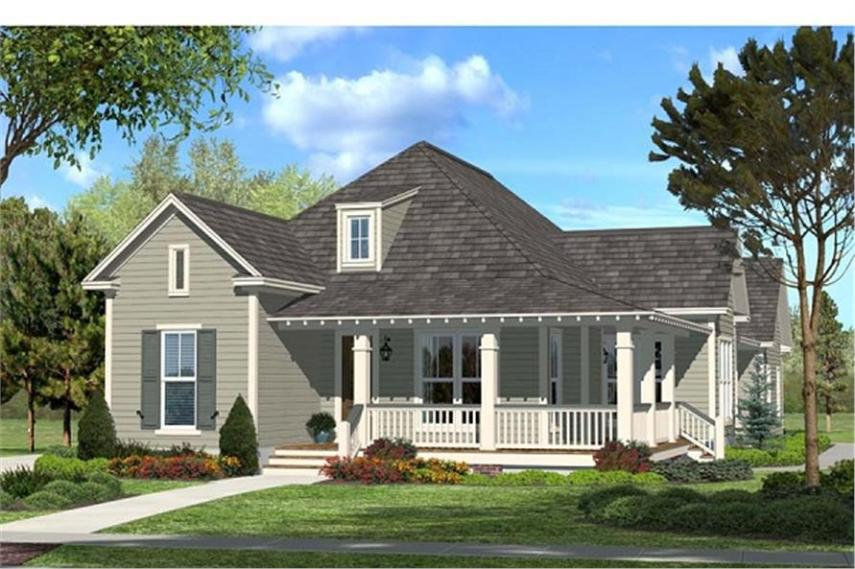 House Plan  142 1048   3 Bedroom  1900 Sq Ft Ranch   Country Home   TPC  142 1048      3 Bedroom  1900 Sq Ft Acadian House Plan   142 1048   Front