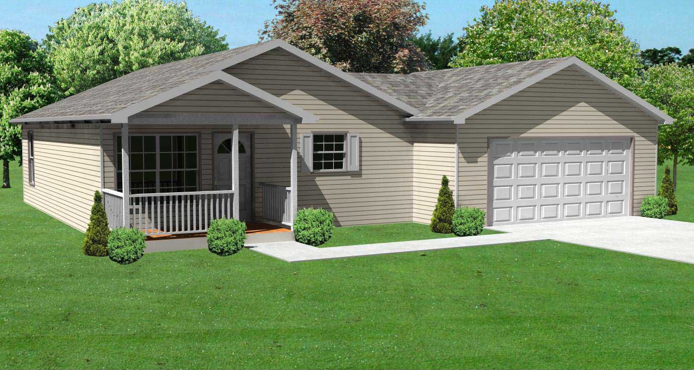Bungalow House Plans   Home Design 148 1068  148 1068      This image shows the front elevation of these Bungalow House  Plans