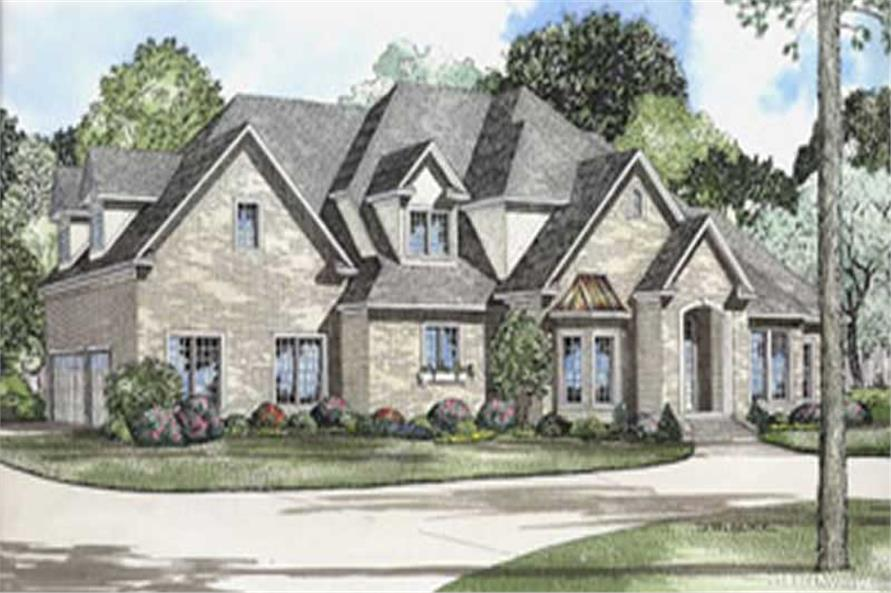 Traditional House Plans   Home Design   5575  153 1365      4 Bedroom  4488 Sq Ft Luxury House Plan   153 1365   Front
