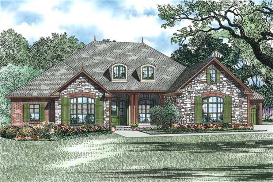 European Ranch House Plans Home Design 1352