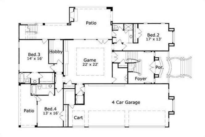 House Plans With 4 Car Attached Garage | Amazing House Plans