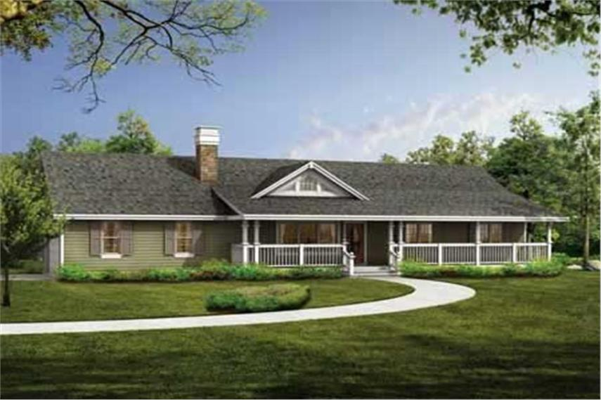Country House Plan   3 Bedrms  2 Baths   1408 Sq Ft    167 1431  167 1431      3 Bedroom  1408 Sq Ft Country House Plan   167 1431   Front