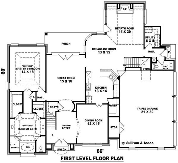 Medium image of floor plan 8  utility room 6 u2032 x 8 u2032 dr 12 u2032 x 15 u2032 kitchen 13 u2032 x 14 u2032