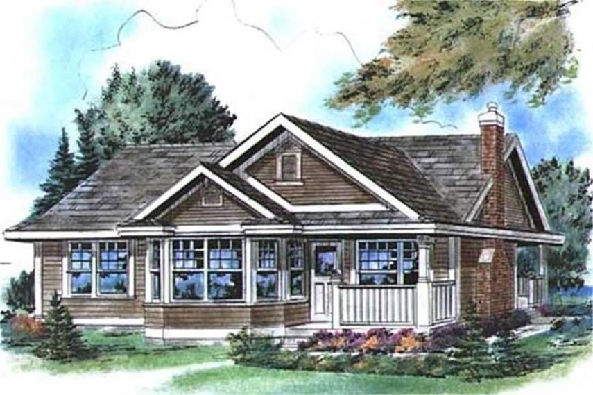Small  Country  Traditional  Ranch House Plans   Home Design   2225  176 1015      2 Bedroom  925 Sq Ft Country Home Plan   176 1015   Main