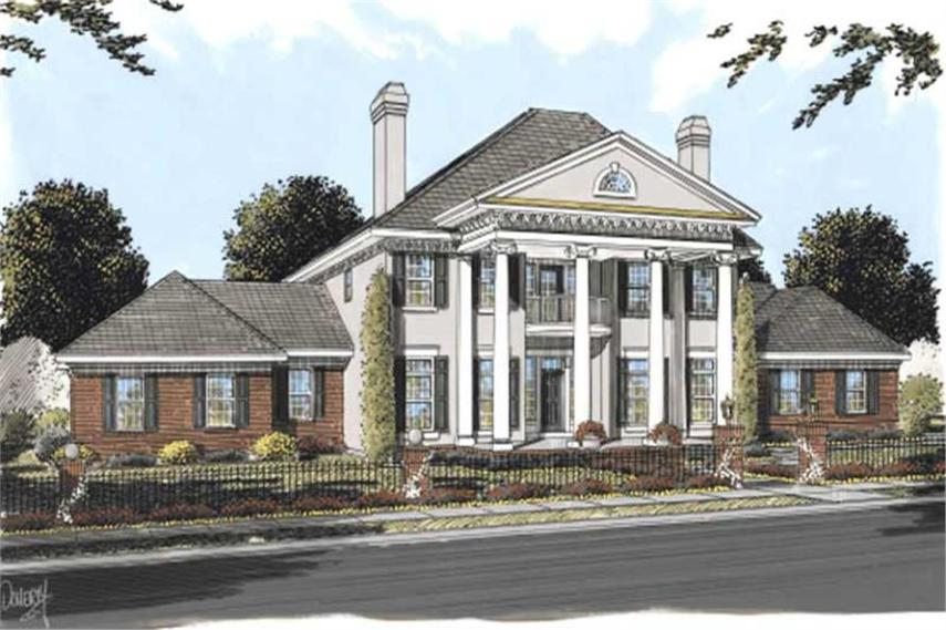 Colonial House Plans   Southern Home Design DB 24192   11756  178 1161      4 Bedroom  4166 Sq Ft Southern Home Plan   178 1161   Main