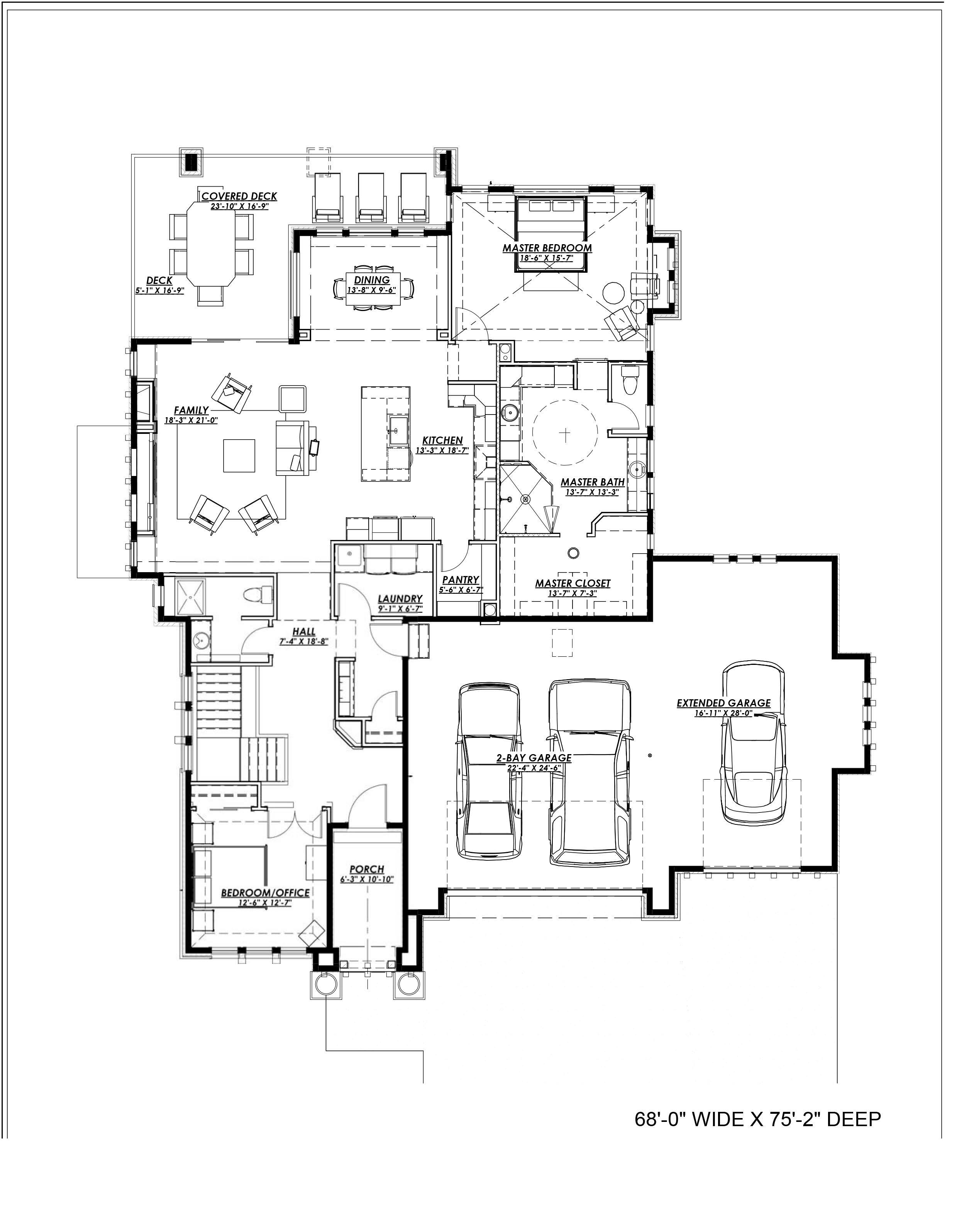 Prairie House Plan 194 2 Bedrm Sq Ft Home Plan