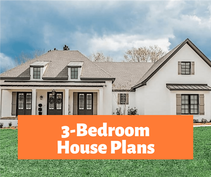Three Bedroom House Plans The Magic Number For Small Families