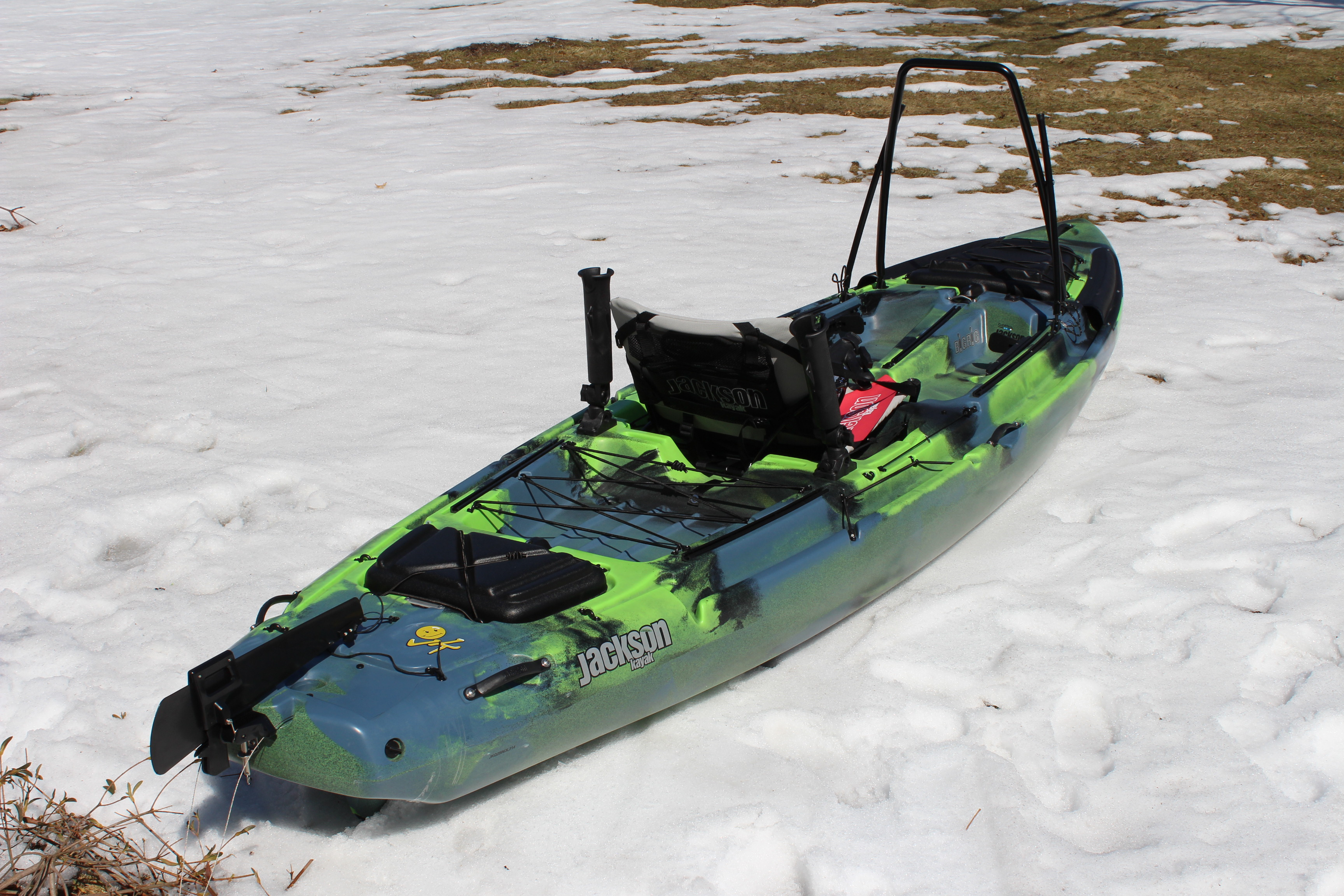 First look at the 2014 jackson kayak big rig the plastic for Fishing jackson kayak
