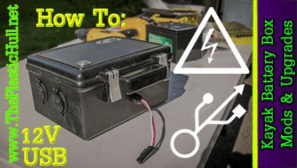 waterproof kayak battery box mods upgrades the plastic hull rh theplastichull net