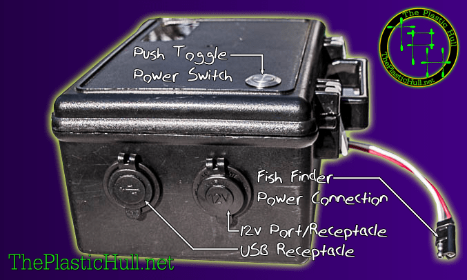 waterproof kayak battery box mods upgrades the plastic hull rh theplastichull net Battery Isolator Wiring-Diagram 12 Volt Dual Battery Wiring Diagram