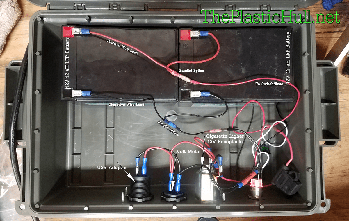 How To Connect 12V Batteries in Parallel - The Plastic Hull Kayak Wiring Diagram on
