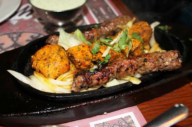 mixed kebab starter Tayyabs Whitechapel