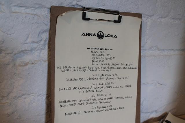 menu anna loka albany road cardiff