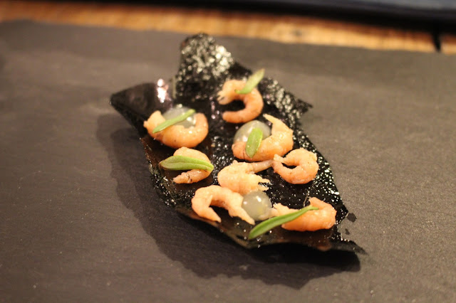 squid ink cracker Beach House Oxwich