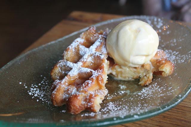 ice cream waffles Oscars Cowbridge