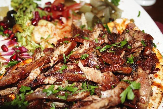 duck shawarma Mezza Luna Cardiff City Road