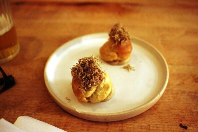 mushroom truffle choux pastry