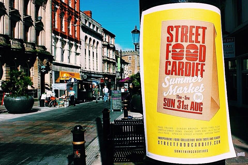 street food cardiff poster