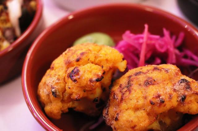 tandoori cauliflower purple poppadom canton cardiff