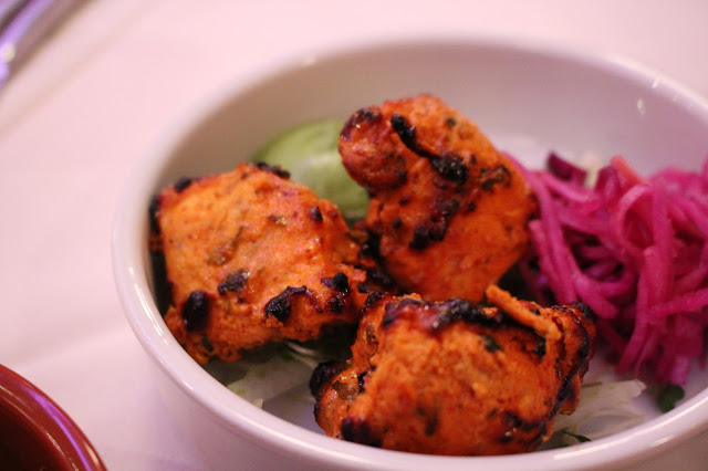 chicken tikka purple poppadom canton