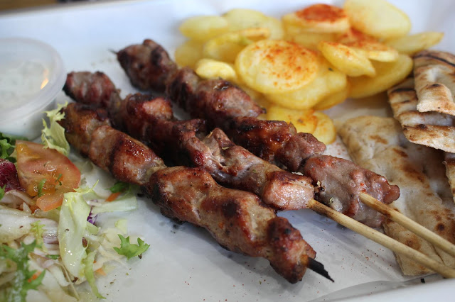 lamb skewers souvlike city road cardiff