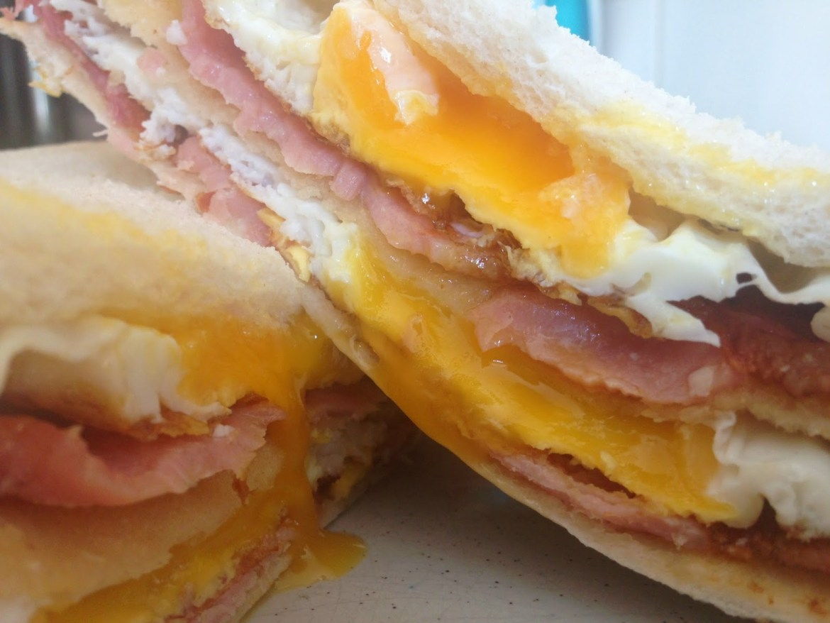 bacon egg sandwich