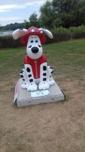 Gromit from the Gromit trail as one of the paw patrol characters.