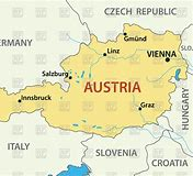 A map of Austria showing Linz on the Danube
