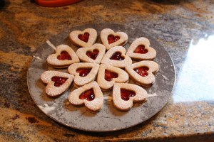 Pastry hearts with a jam filling