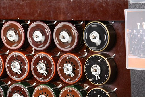 Part of the bombe machine used to crack the enigma code.