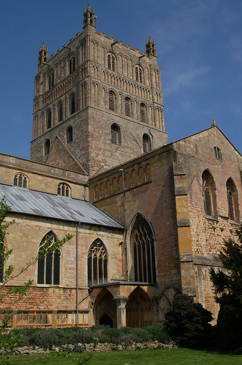 The Norman tower of Tewkesbury abbey #Tewkesbury