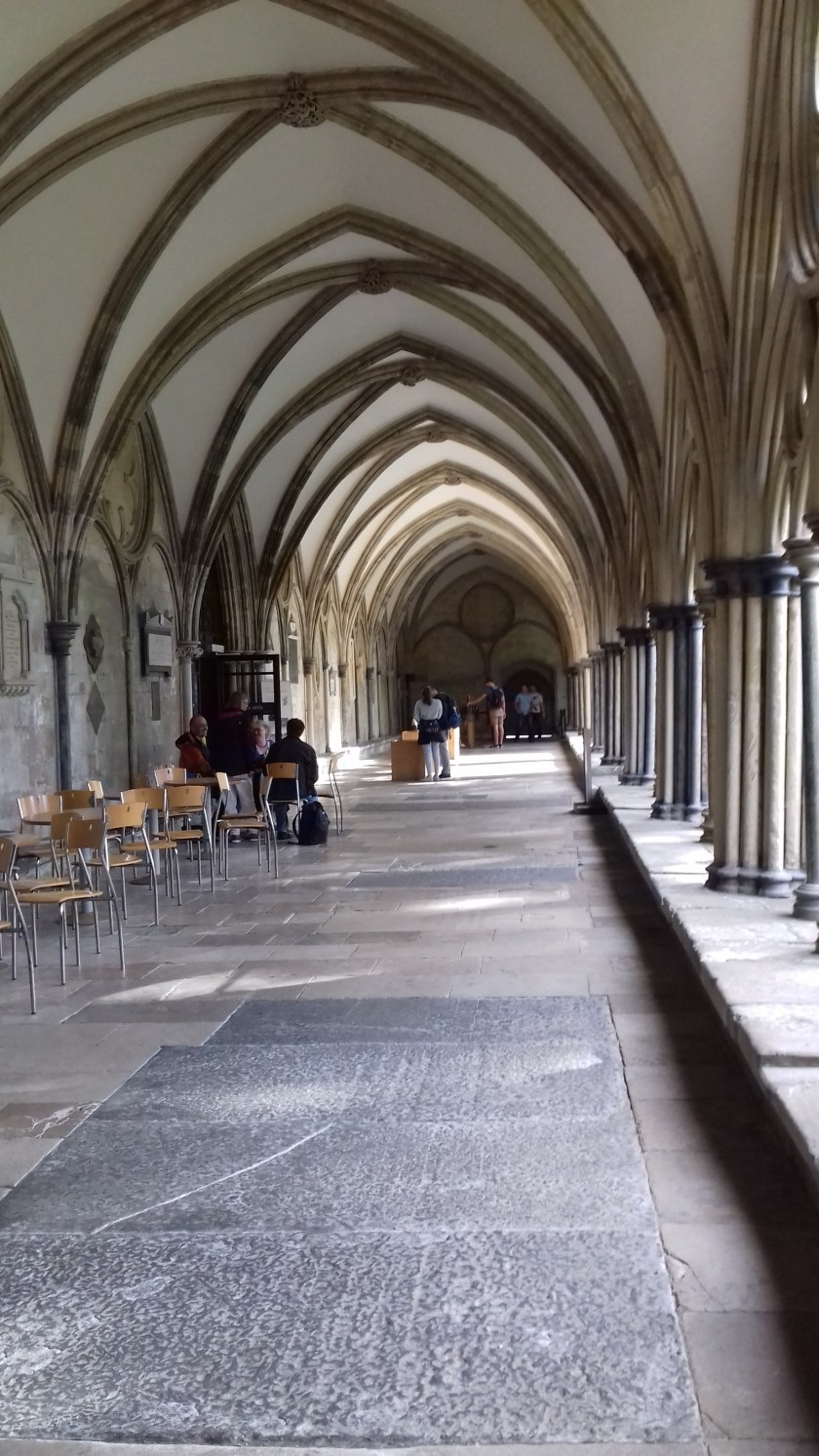 Part of the cloisters of Salisbury cathedral