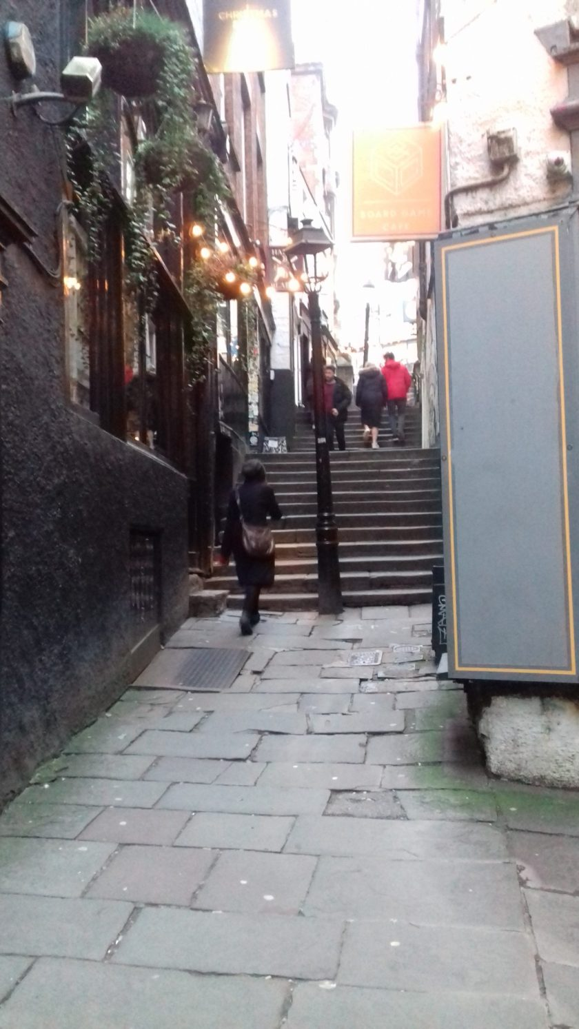Looking up Christmas steps a rare survival of 17th century Bristol
