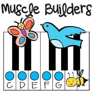 My Muscle Builder Books: Piano Technique for Young Beginners