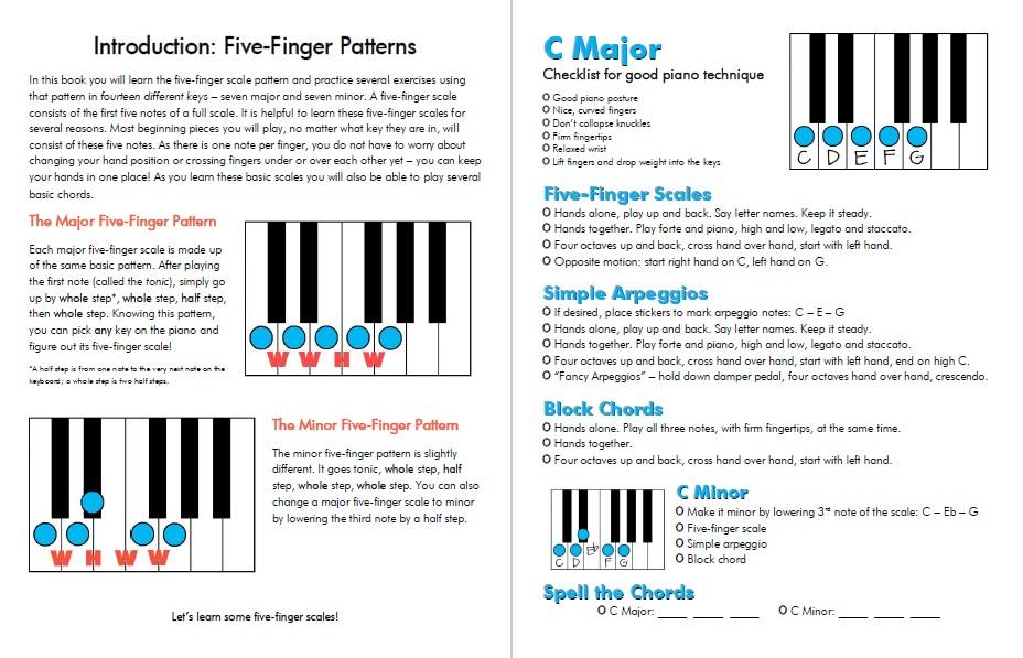 Piano Muscle Builders For Older Beginners Book 1