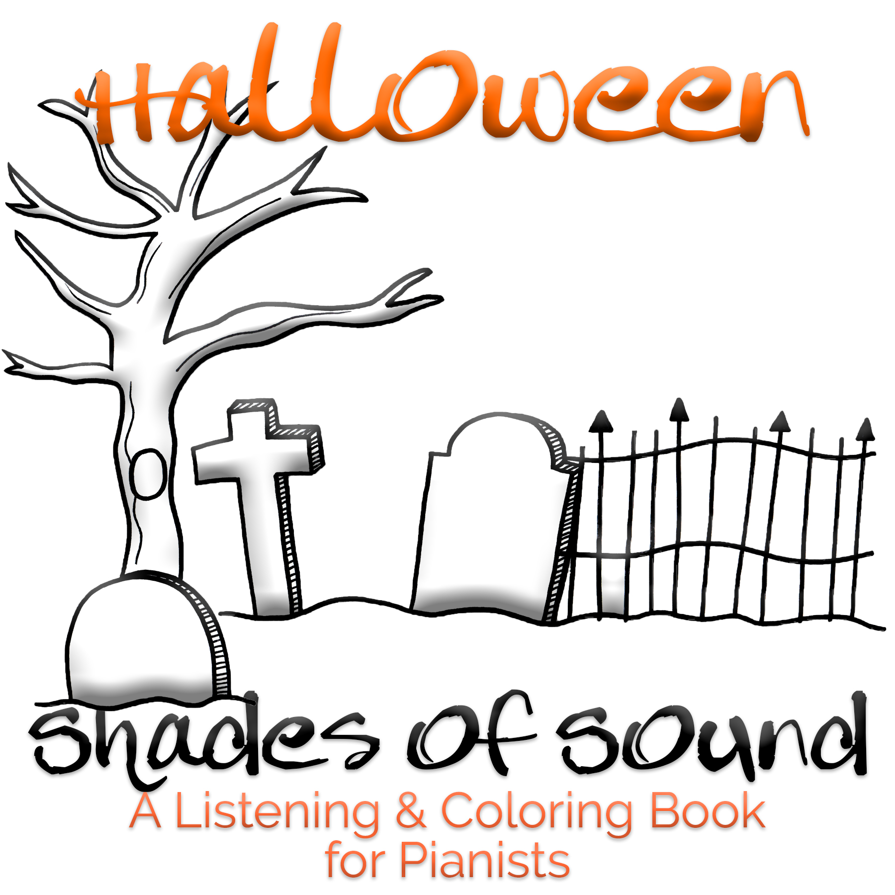 Shades Of Sound Listening Coloring Book Halloween